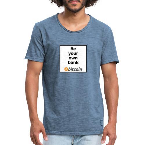Bitcoin - Maglietta vintage da uomo