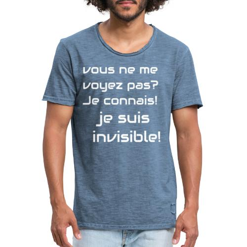 Invisibile #invisibile - Maglietta vintage da uomo