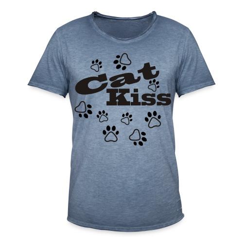 cat kiss pot - Camiseta vintage hombre