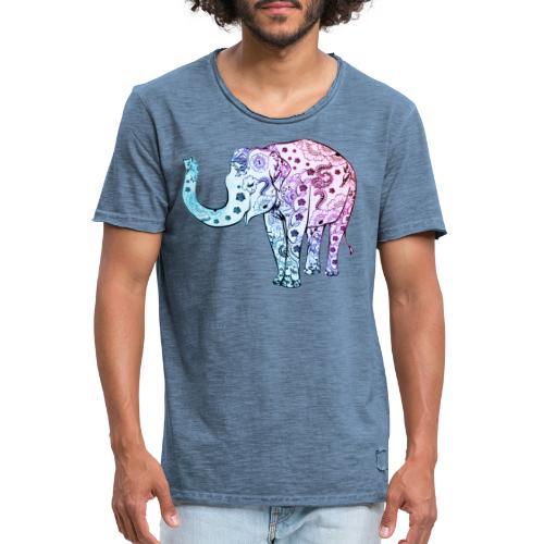 éléphant - T-shirt vintage Homme