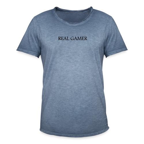 The Real Gamer - Männer Vintage T-Shirt