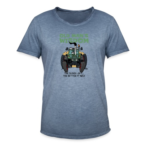 0163 oldmanswisdom F 307ls - Mannen Vintage T-shirt