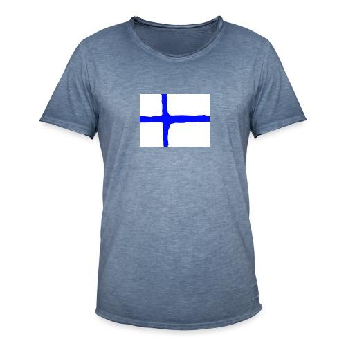 FinishFlag Caps - Vintage-T-skjorte for menn