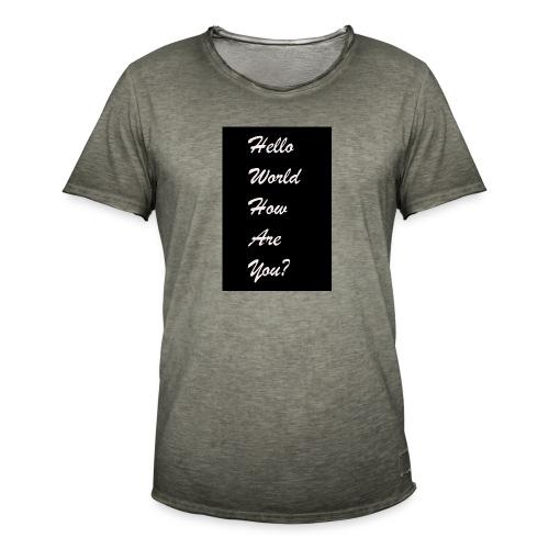 hello world - Männer Vintage T-Shirt