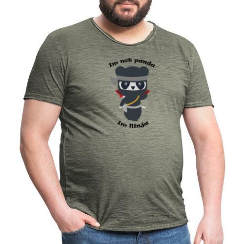 Non sono un Panda - Maglietta vintage da uomo