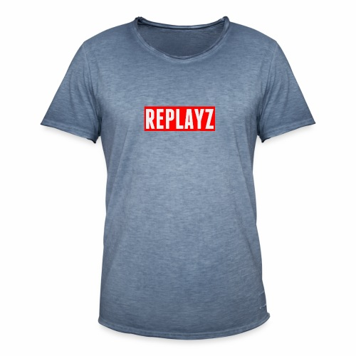 Replayz Red Box Logo - Men's Vintage T-Shirt