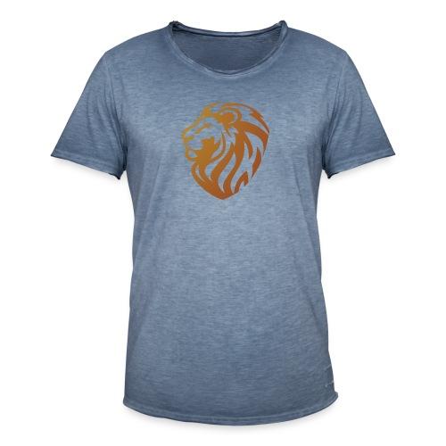 Bronze lion - T-shirt vintage Homme