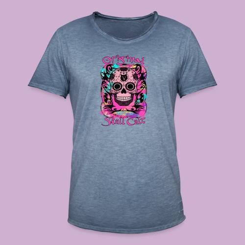 ORIGINAL SKULL CULT PINK - Männer Vintage T-Shirt