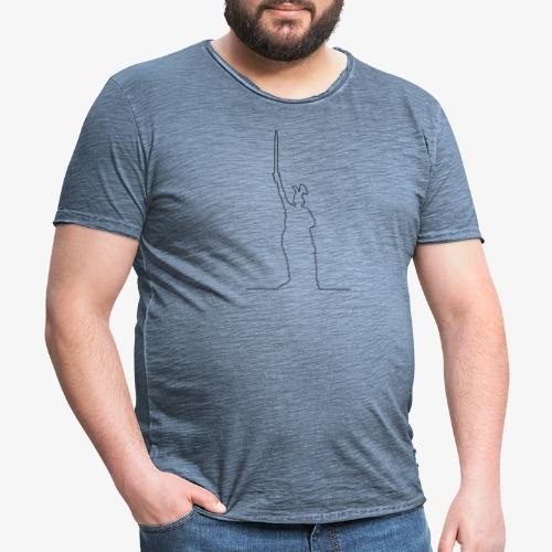Kontur des Hermannsdenkmals - Männer Vintage T-Shirt