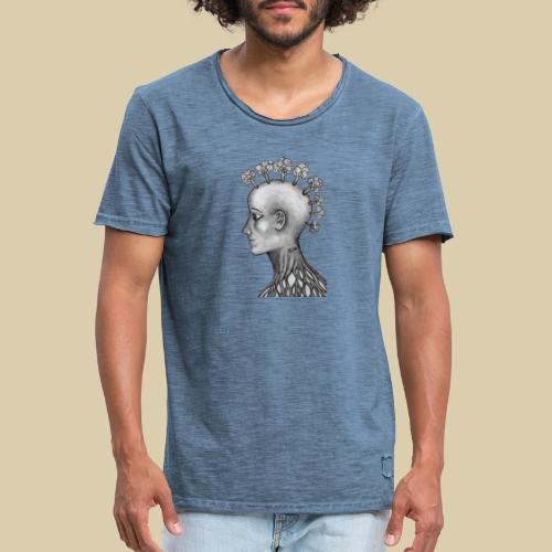 mujer brócoli - Camiseta vintage hombre