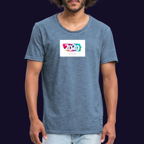 Happy new year 2020 - Männer Vintage T-Shirt