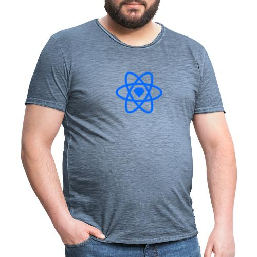 Sketch2React Logo Blue - Vintage-T-shirt herr