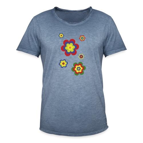 limited edition 3b flower power - Männer Vintage T-Shirt