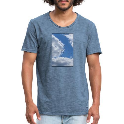 Vögel im Himmel - Männer Vintage T-Shirt