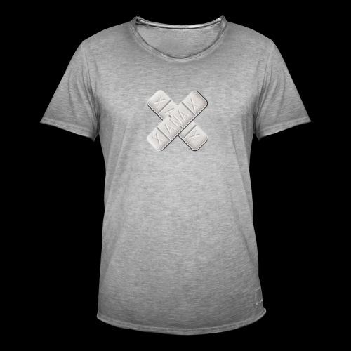 Xanax X Logo - Männer Vintage T-Shirt