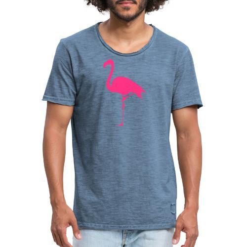 Freaking Flamingo - Vintage-T-shirt herr
