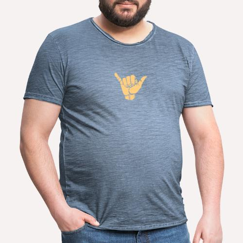 Good Vibes Print Design Hand Sign On Demand - Men's Vintage T-Shirt