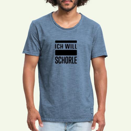 Ich will Schorle schwarz - Männer Vintage T-Shirt