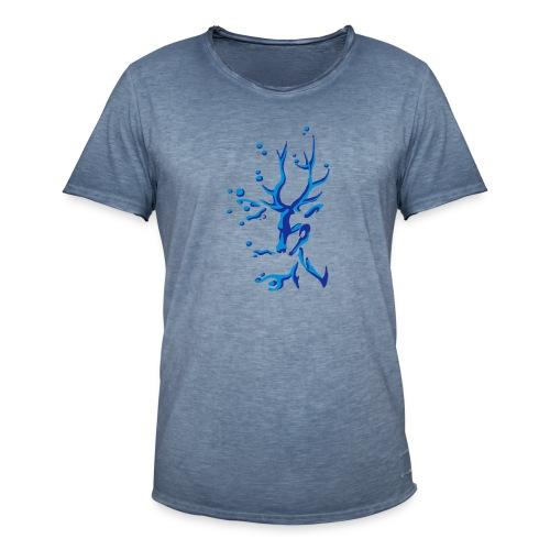 Hirsch - Männer Vintage T-Shirt