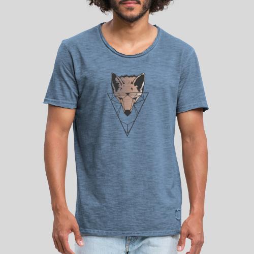 Fuchs Geometrie schwarz-orange - Männer Vintage T-Shirt