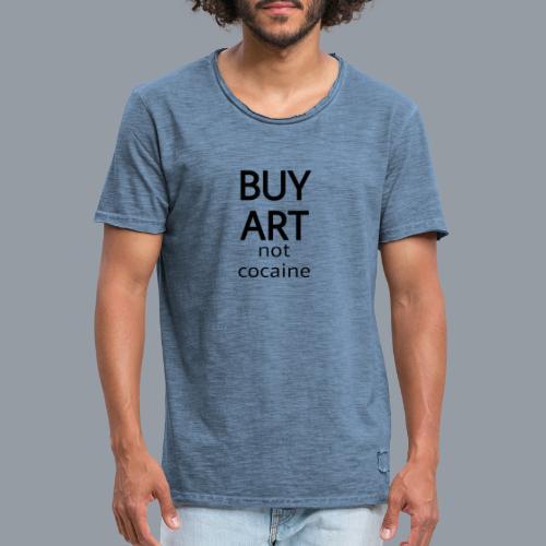 BUY ART NOT COCAINE (negro) - Camiseta vintage hombre