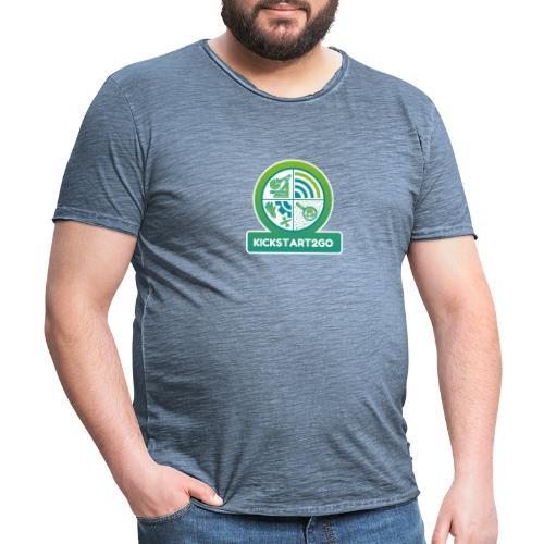 kickstart2go - Männer Vintage T-Shirt