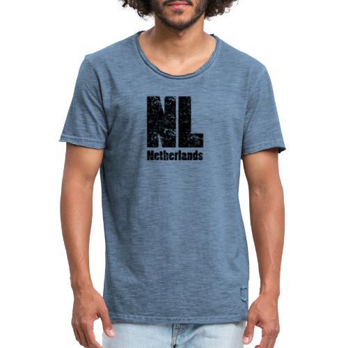 NL Netherlands - Mannen Vintage T-shirt