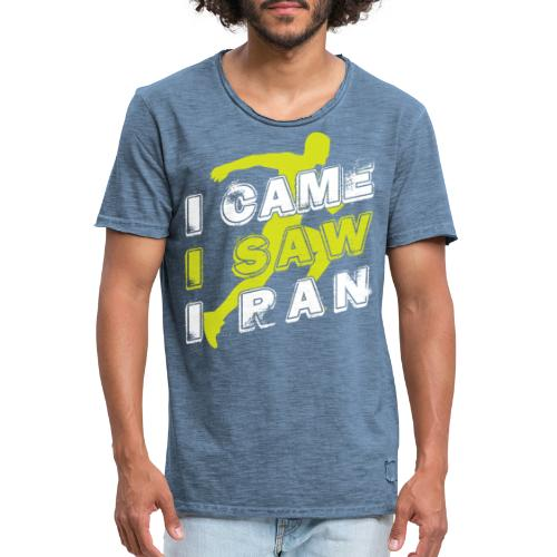 I came I saw I ran - Men's Vintage T-Shirt