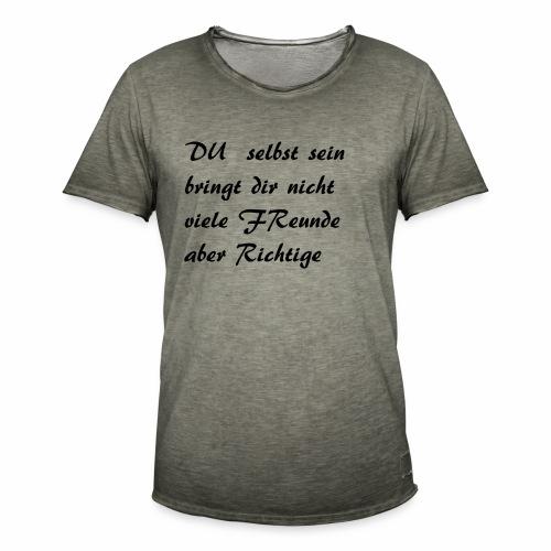 Sei du selbst - Männer Vintage T-Shirt