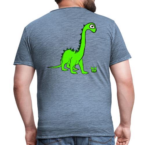 dinosauro - Maglietta vintage da uomo