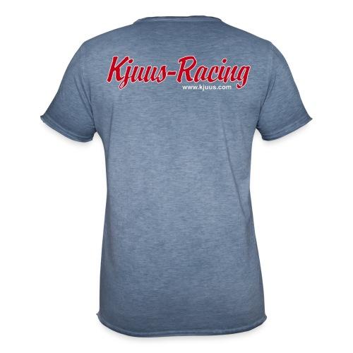 Kjuus-Racing - Vintage-T-skjorte for menn