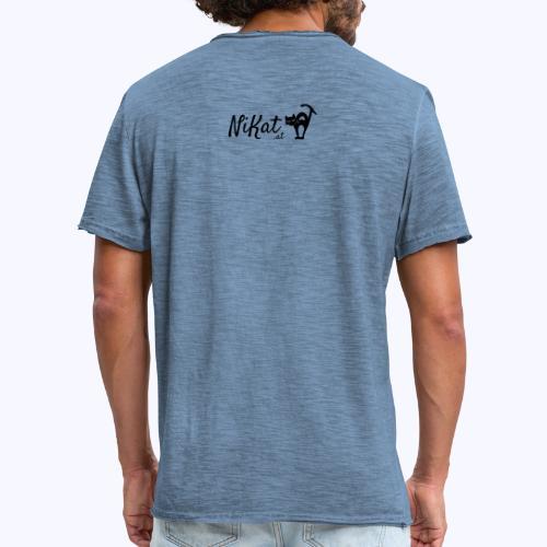 Nikat logo schwarz - Männer Vintage T-Shirt