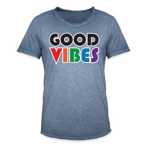 goodvibes stor png - Vintage-T-shirt herr