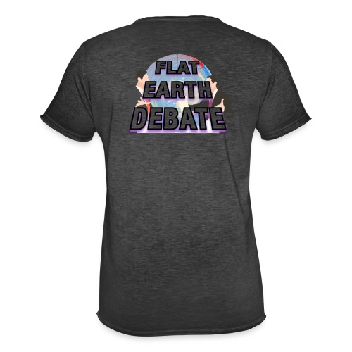 Flat Earth Debate - Men's Vintage T-Shirt