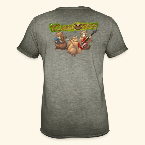 Tshirt groupe dos - T-shirt vintage Homme