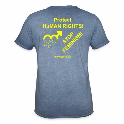 Protect HuMAN Rights - Stop Feminism - Männer Vintage T-Shirt