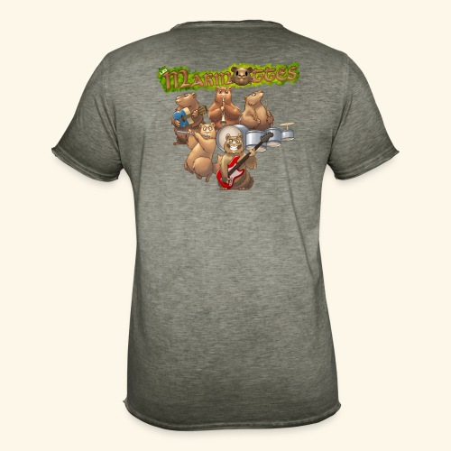 Tshirt groupe complet (dos) - T-shirt vintage Homme