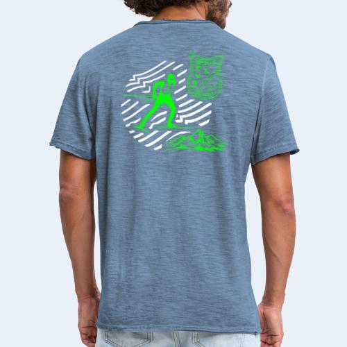 Mountain Skate - Männer Vintage T-Shirt