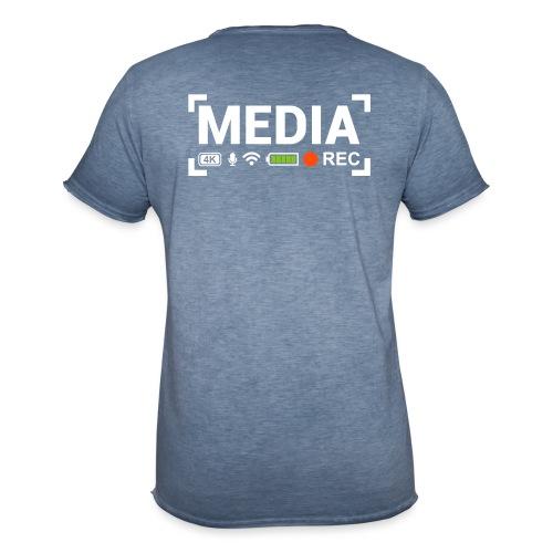 MEDIA Crew - Maglietta vintage da uomo