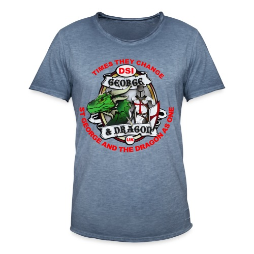 St George Dragon times they change v4 png - Men's Vintage T-Shirt