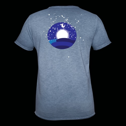 Der Mond hat n Vogel - Männer Vintage T-Shirt