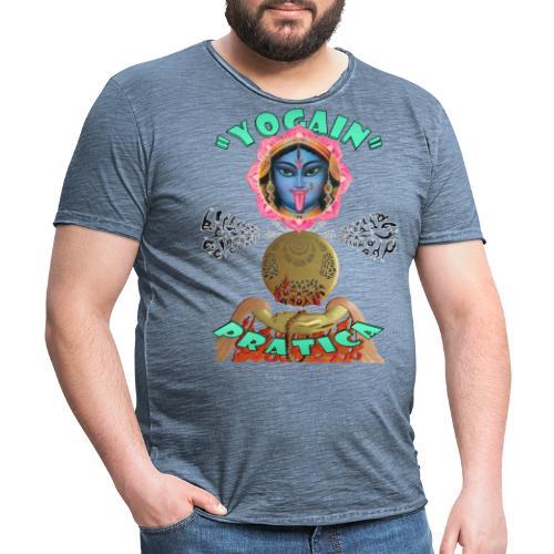YogaIn Pratica - Maglietta vintage da uomo