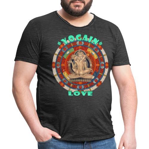 YogaIn Love - Maglietta vintage da uomo