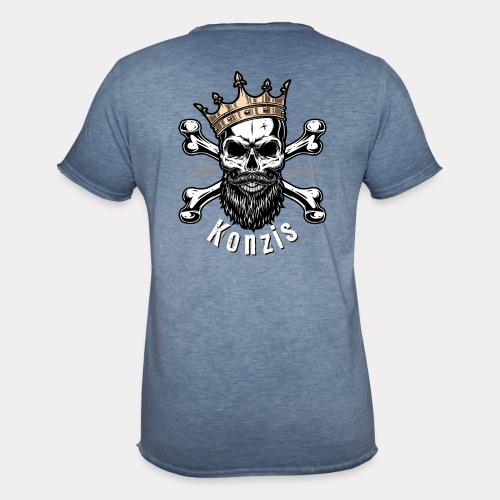 Skull Bones Logo - Männer Vintage T-Shirt