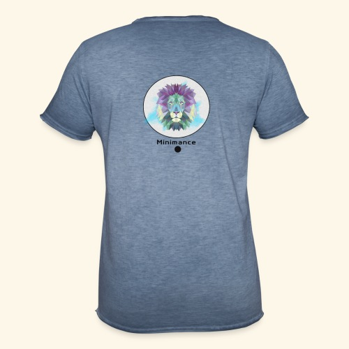 GEOMETRIC LION - T-shirt vintage Homme