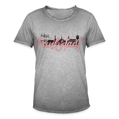 Funkstadt Shirt black / red - Männer Vintage T-Shirt