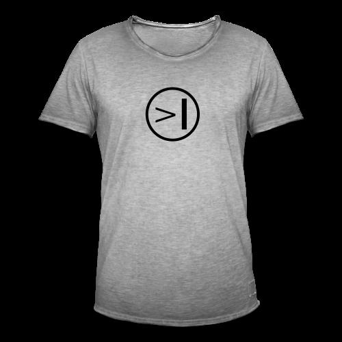Textadventur.es| Logo Circle - grau - Männer Vintage T-Shirt