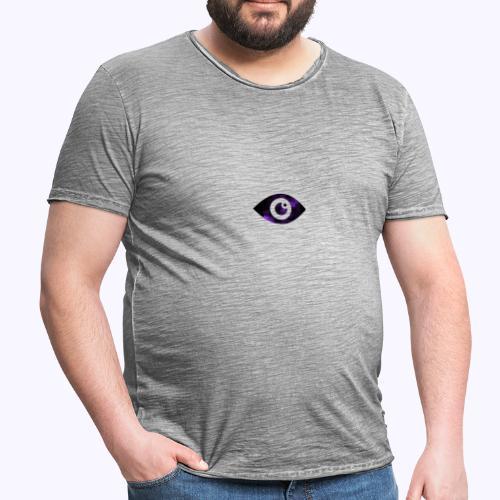 Occhio del destino viola - Maglietta vintage da uomo