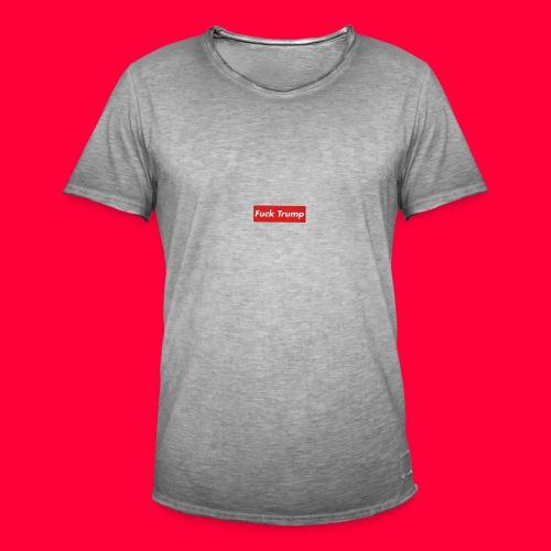 fuck trump - T-shirt vintage Homme