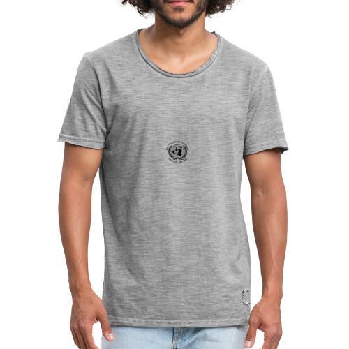zwart borst - Mannen Vintage T-shirt